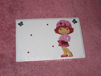 Petite plaque Charlotte aux fraises