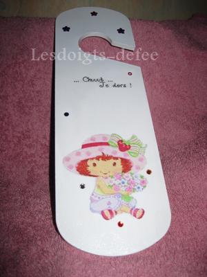 Plaque de poignée de porte Charlotte aux fraises