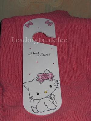 Plaque de poignée de porte Charmmy Kitty