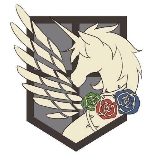 Les 4 emblèmes des corps de l'armée entrelacés
