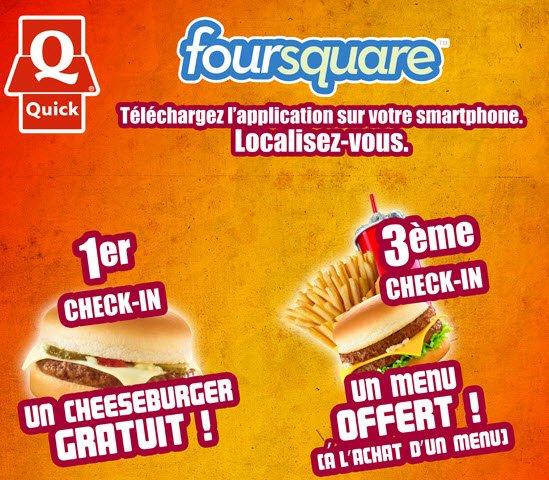 Gagne plein de sandwichs gratuits avec l'appli Foursquare !