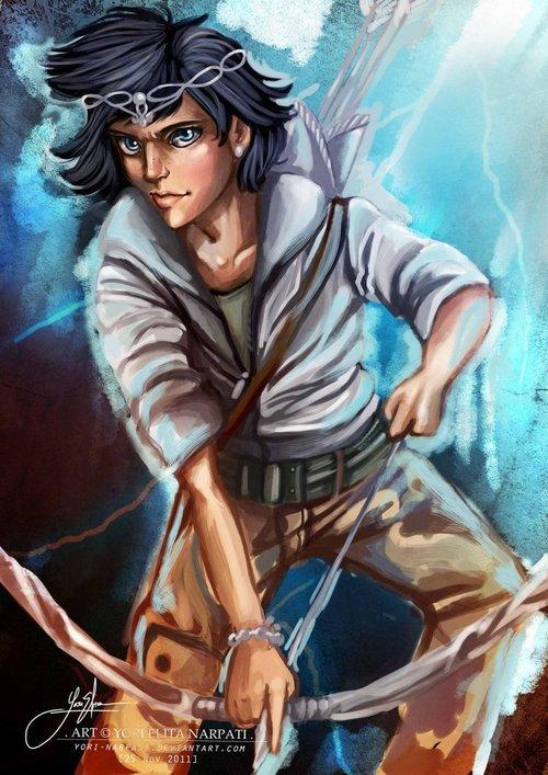Thalia Grace fille de Zeus chasseresse d'Artémis