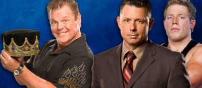 Jerry Lawler vs Michael Cole (with Jack Swagger)