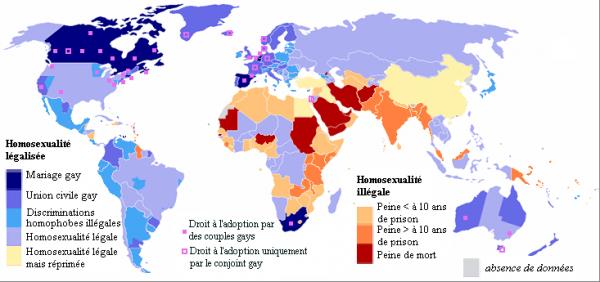 L'homosexualité dans le monde ...