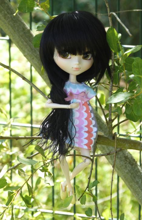 I tried to climb on a tree...