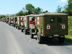 NORMANDIE   D-DAY 2014      LE CONVOI DES AMBULANCES US WC 54