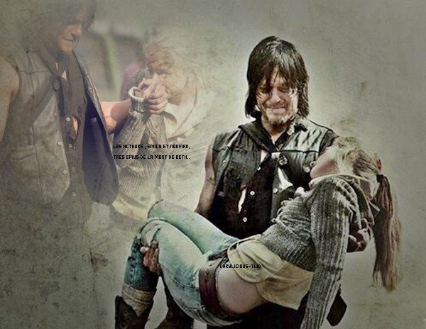 Darylicious-TWD. Normaan Reedus ♥ The Walking Dead. Emilie Kinney & Norman Reedus.