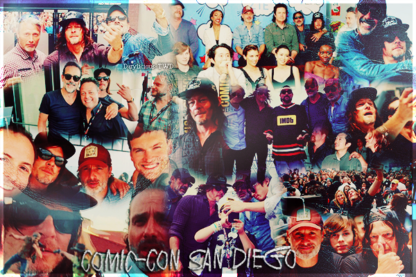 Darylicious-TWD. Normaan Reedus ♥ NEWS du 21 au 24 JUILLET 2016. COMIC CON SAN DIEGO. & du 18/21 AOUT 2016 -  Norman Reedus, Tom Payne & Danai Gurira au Wizard World Chicago in Rosemont, IL.