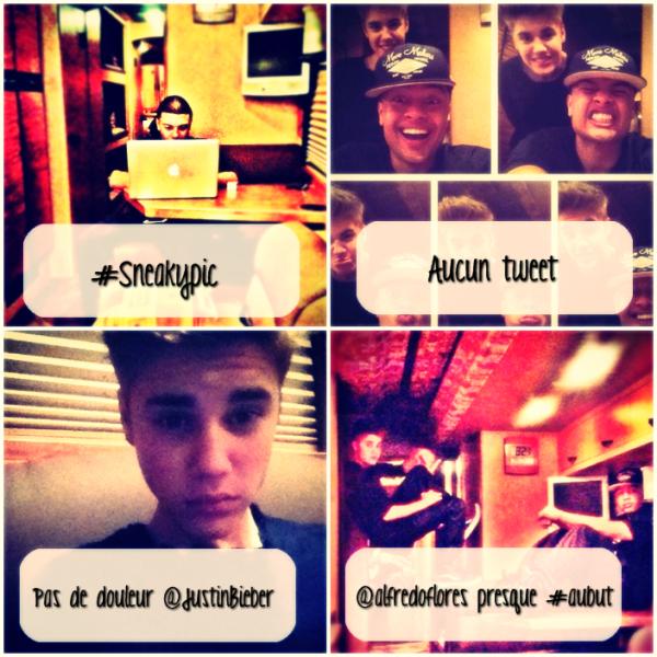 Rattrapages des photos personelles de Justin