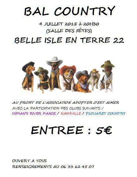 Bal country à Belle Isle en Terre samedi 4/07