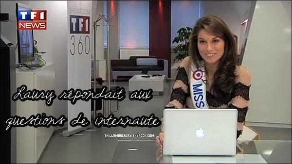 .   06/12/10 _Notre nouvelle Miss France au JT de 13h + repondant aux questions de internaute. _____ Laury est juste magnfique, J'adore sa coiffure ! Cliqué sur les photo pour voir les video. Top ?    .