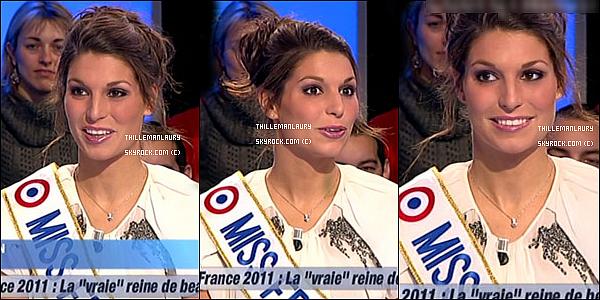 .     06/12/10 : Laury Thilleman et Sylvie Tellier sur le plateau du Grand Journal de Canal +.