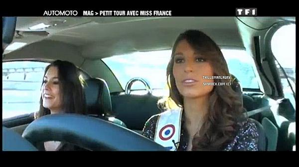 .   MISS FRANCE 2011 ETAIT DANS AUTO-MOTO LE DIMANCHE 12/12/10 !   Laury qui découvrait pour la première fois la circulation en plein Paris, une fan de la conduite automobile. .