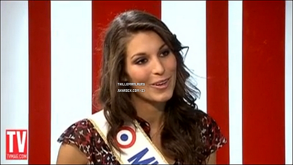 .     Miss France 2011 à donné un interview à TV mag ou elle dit quelle est amoureuse..