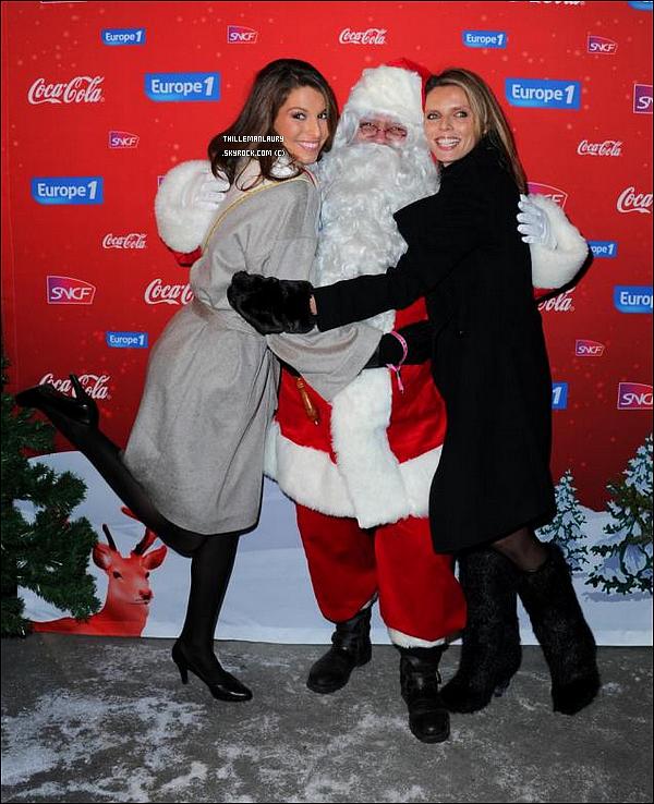 .     15/12/10 : Laury et Sylvie Thellier était présentent à la soirée du Train de Noël, à Paris..