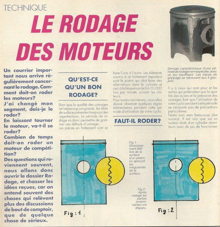 Rodage Moteur
