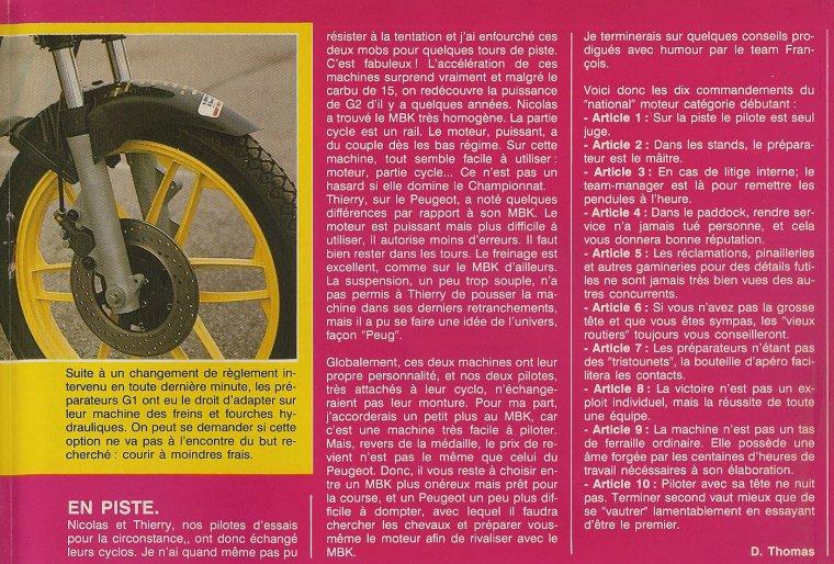 1988 G1 : Peugeot vs MBK