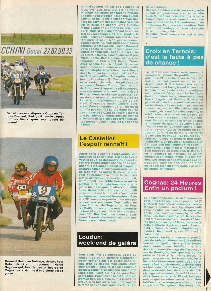 1986 Une Année de Compétition Mob