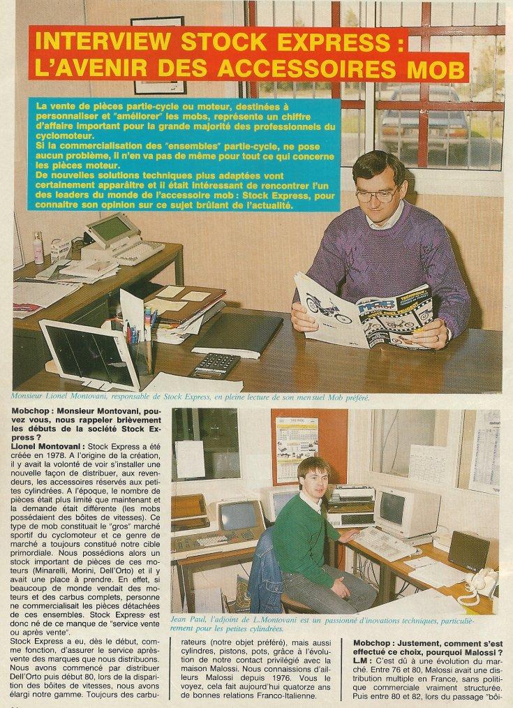 La Vente de Pièces Détachées en 1990