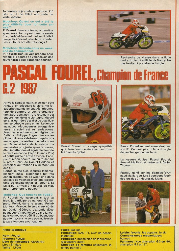 Interview de Pascal Fourel CdF 1987