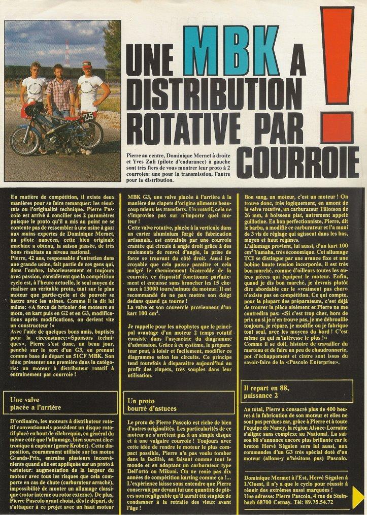 Proto G3 A Distribution Rotative