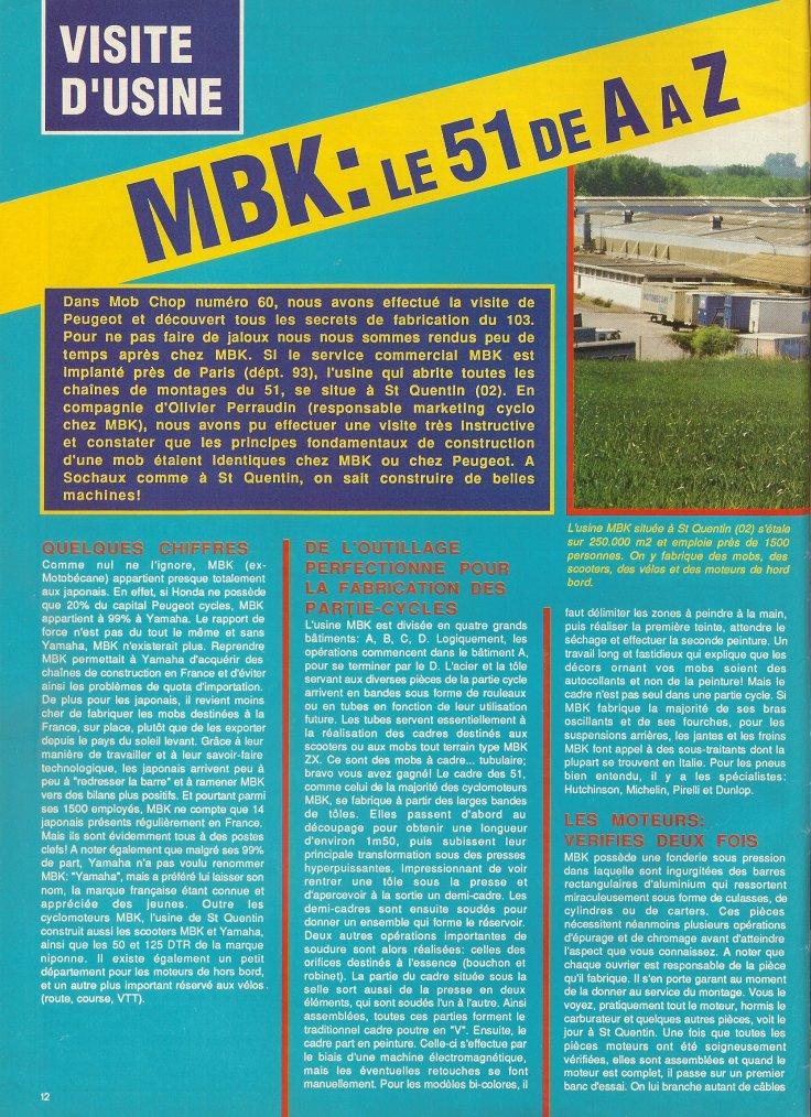 Visite chez MBK à St-Quentin