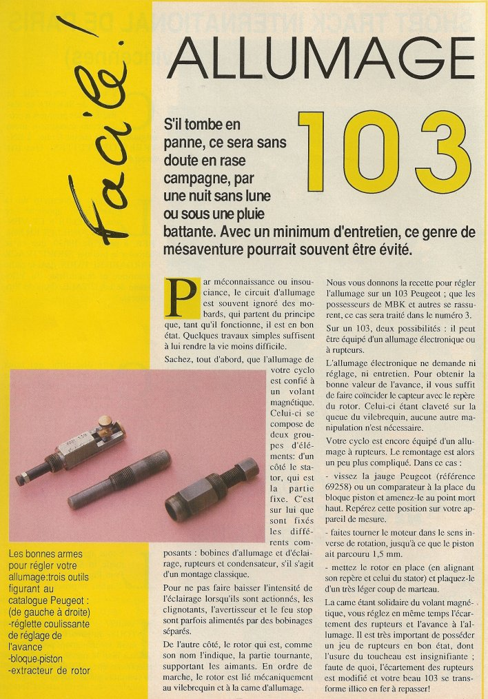Technique : Allumage Peugeot 103