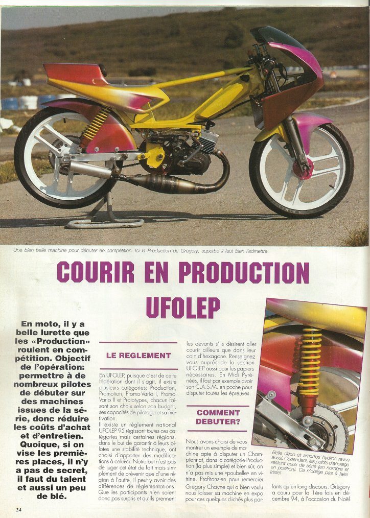 Courir en Production en 1995!!