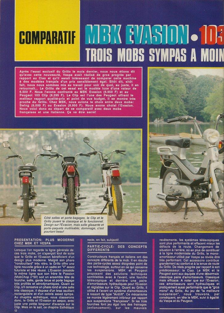 Comparatif Mobs!!