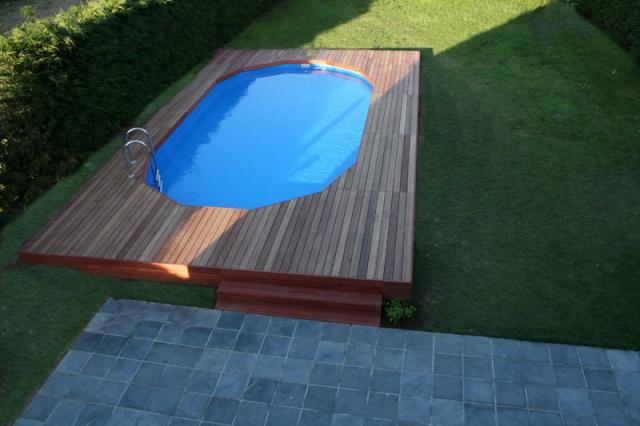 Blog de hugues0509 construction piscine gre - Terrasse autour piscine ...