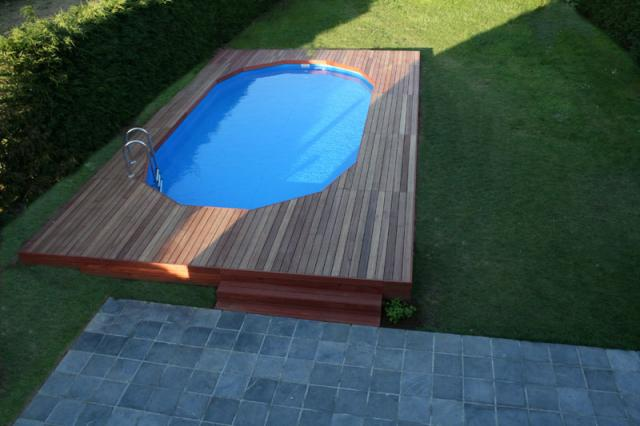 Blog de hugues0509 construction piscine gre - Piscine semi enterree acier ...