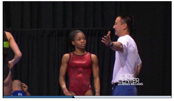 - ON WEB GYMNASTICS - Gabrielle Douglas  Gabby Douglas est a l'honneur sur Rock Center avec Brian Williams Décrochera-t-elle le titre au concours général ?  -
