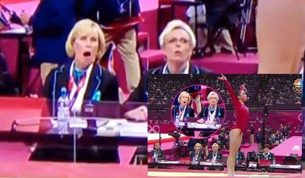 - ON WEB GYMNASTICS - Humour Réaction de la juge en notant le saut 'parfait' de Maroney lors de la finale par équipe -
