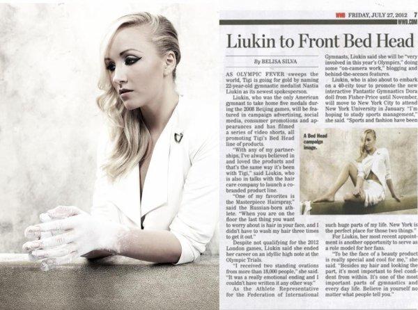 - ON WEB GYMNASTICS - Nastia Liukin «Ravie d'être la nouvelle égérie pour TIGI» , personnellement j'aime beaucoup  -