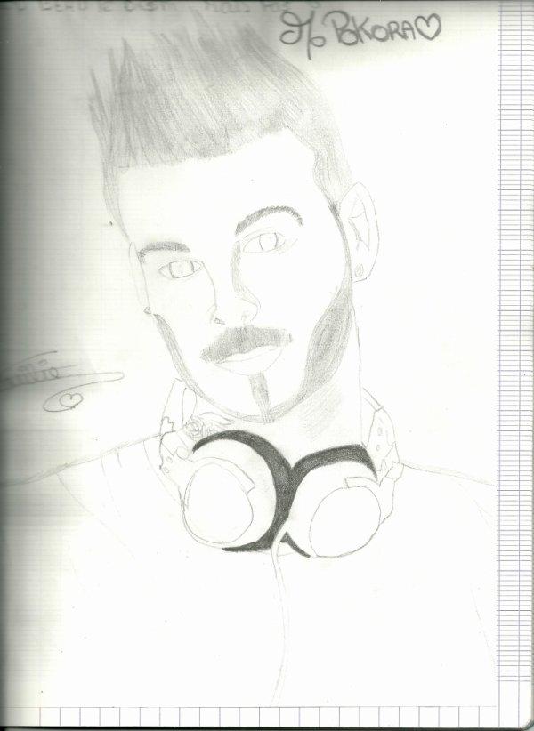 mon premier portrait de m.pokora ♥