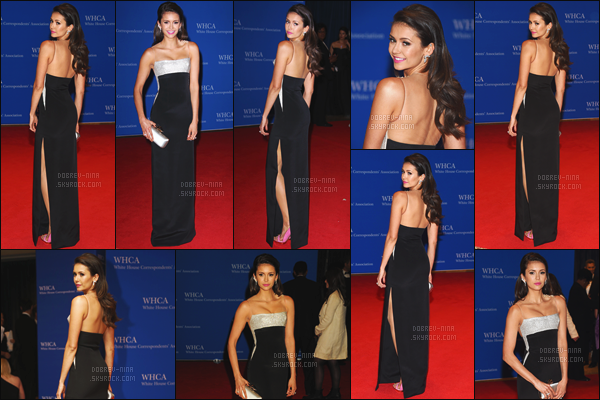 30/04/16: Nina était présente au « 102nd White House Correspondents' Association Dinner » à Washington. Très jolie event pour Nina. J'aime bien la tenue qu'elle portait, top pour la coiffure et le make-up. N'hésitez pas à donner votre avis par commentaire