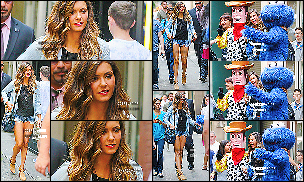 . 04/08/14: Nina était sur le plateau de l'émission «  Live with Kelly & Michael » à New York.