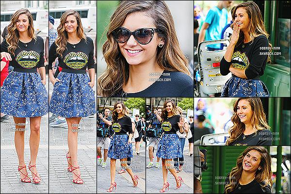 04/08/2014 : Dans la même journée, Nina a été photographié alors qu'elle filmait quelque chose à Central Park. On ne connait encore aucuns détails sur la vidéo que tourne Nina. Cependant coté tenue elle assure vraiment. Un BIG top pour la belle actrice !!