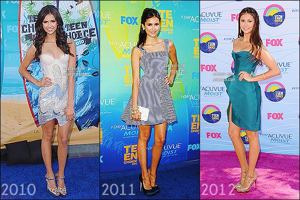 « TEEN CHOICE AWARDS »    Durant les 5 années, quelles tenues préfères-tu?