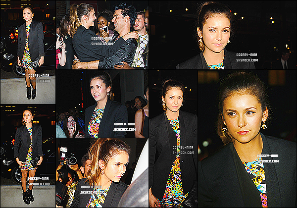 07/09/2014 : La magnifique Nina Dobrev été présente au défilé « Versace » pour la Fashion Week - à New York. Ses copines de Vampire Diaries été aussi présente Phoebe Tonkin et Kat Graham. Nina D. était tout simplement superbe hier, c'est un BIG TOP !