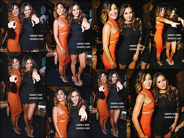16/09/2014 : La belle actrice Nina Dobrev est allée à l'after party du film « Two Night Stand » - à Los Angeles. La belle s'affiche avec la copine et actrice Jessica Zohr. Elles sont désormais voisine à Atlanta et sont devenues inséparables. C'est un top pour Nina