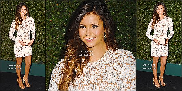 02/09/2014 : Nina été accompagné de sa BFF Julianne Hough à l'événement par « Michael Kors » à Beverly Hills. L'événement s'appelait Claiborne Swanson Frank's Young Hollywood Book Launch. Nina était particulièrement magnifique ce soir là, un BIG TOP !