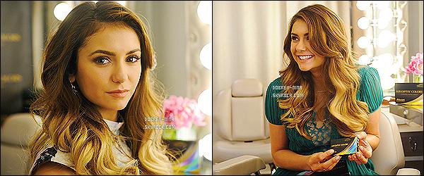 . Voici deux photos et une vidéo pour « Couleurs Air Optix » dont Nina est l'égérie. .