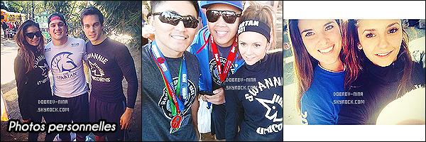 06/12/2014: Nina a participé au Spartan Race avec Chris Wood à Atlanta - Géorgie. Cette année encore Nina y participe en compagnie de sa co star de Vampire Diaries et ?boyfriend? Chris Wood - Nina a gagné une médaille ! ! ! !