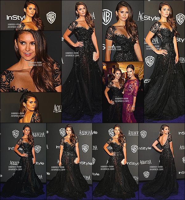 10/01/2015 - Miss Nina Dobrev était présente au « InStyle and Warner Bros Party » - à Los Angeles. Nina était bien présente à l'after party des Goldes Globes. Nina porte une robe noire signé Zuhair Murad - rien à redire sur la tenue, juste parfaite
