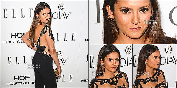 13/01/2015 - Nina Dobrev était présente au « 2015 Elle Women in Television » situé à Beverly Hills . Nina portait une combinaison signé Zuhair Murad.J'aime vraiment beaucoup cette tenue,la coiffure est vraiment bien je l'adore les cheveux lisses
