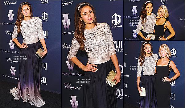 21/02/15 - Nina était présente au Weinstein Company's Academy Awards Nominees Dinner à Los Angeles. Elle était accompagnée de sa meilleure amie Julianne Hough, elles sont vraiment très belles ensembles.____b_J'accorde un top à la tenue