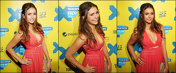 13/03/15 - Nina D. était à l'avant première de The Final Girls au « SXSW Music, Film Festival » à Austin (Texas). The Final Girls sera bien le prochain film de Nina. Je trouve Nina vraiment jolie, la robe est assez sympa - j'adore sa coiffure et son make-up.