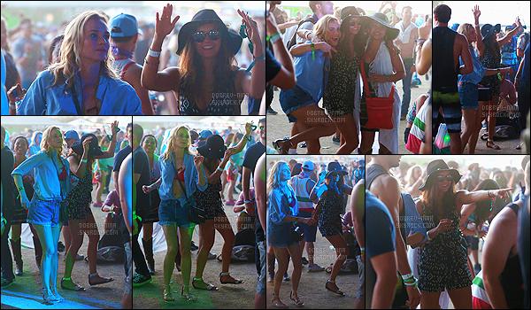 18/04/2015 : Nina Dobrev a été aperçue au festival de musique Coachella pour la deuxième semaine - à Indio. Finalement Nina a pu y aller à ce festival ! Elle était accompagnée de Diane Kruger et Joshua Jackson. J'aime beaucoup la combi-short que N porte.