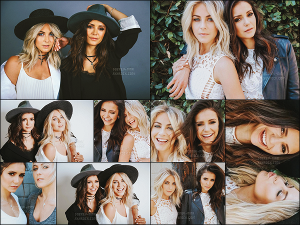 Nina Dobrev a réalisé un photoshoot pour « The Giving Keys » avec Julianne Hough.